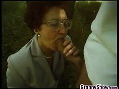 European Grandmother Fucking Outdoors